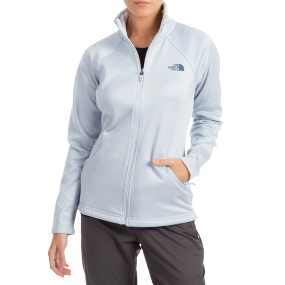 69e9f8e49 The North Face Arctic Ice Blue Agave Full Zip Coat NWT